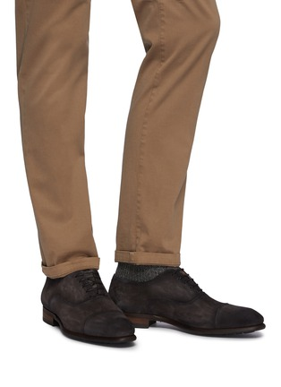 Figure View - Click To Enlarge - MAGNANNI - Suede Toe Cap Oxford