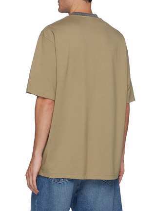 Back View - Click To Enlarge - ACNE STUDIOS - Extor Reverse Logo Rib Collar Relaxed Fit Tee