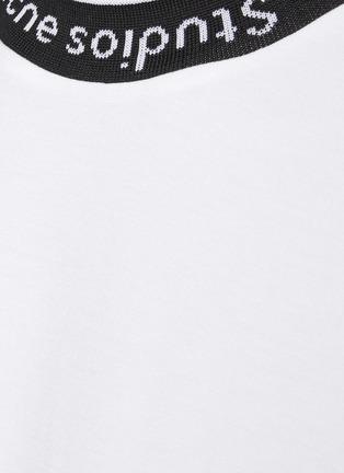 - ACNE STUDIOS - Logo Jacquard Collar Cotton T-Shirt