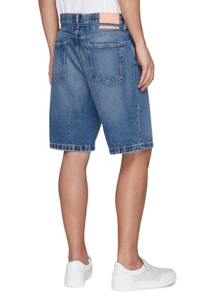 Back View - Click To Enlarge - ACNE STUDIOS - Belted Whiskered Denim Shorts