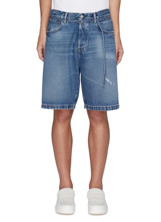 Main View - Click To Enlarge - ACNE STUDIOS - Belted Whiskered Denim Shorts