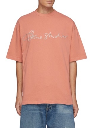 Main View - Click To Enlarge - ACNE STUDIOS - Logo Embroidery T-shirt