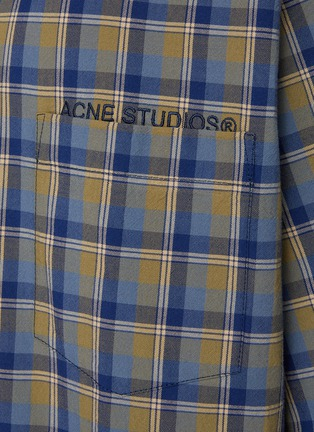- ACNE STUDIOS - Logo Embroidered Oversized Check Shirt