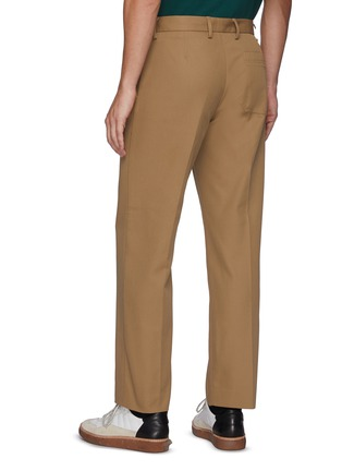 Back View - Click To Enlarge - ACNE STUDIOS - Ayonne' Cotton Blend Twill Slim Pants
