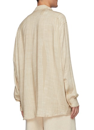 Back View - Click To Enlarge - ACNE STUDIOS - Logo Print Button Down Shirt