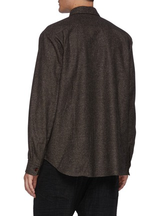 Back View - Click To Enlarge - ACNE STUDIOS - Donegal Wool Blend Shirt