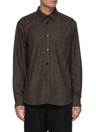 Main View - Click To Enlarge - ACNE STUDIOS - Donegal Wool Blend Shirt