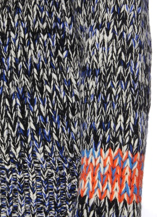 - JIL SANDER - Melange Knit V-Neck Sweater