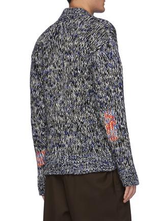 Back View - Click To Enlarge - JIL SANDER - Melange Knit V-Neck Sweater