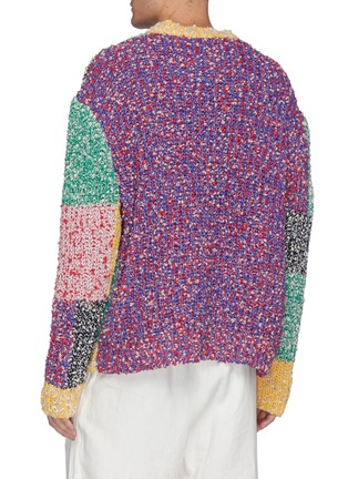 Back View - Click To Enlarge - JW ANDERSON - Anchor logo patchwork sweater