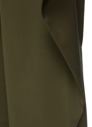 - JW ANDERSON - Extra Fabric On Side Geometric Draped Trousers