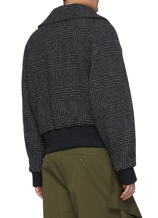 Back View - Click To Enlarge - JW ANDERSON - Contrasting Neck Fastening Ruched Sleeve Bomber