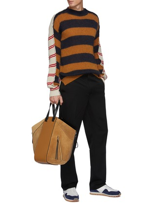 Figure View - Click To Enlarge - JW ANDERSON - Contrast topstitch tailored pants