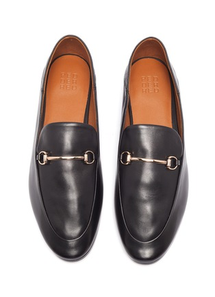 Detail View - Click To Enlarge - PEDDER RED - 'Rex' Round Toe Leather Horsebit Loafers