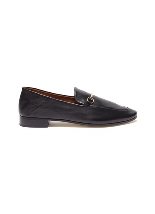 Main View - Click To Enlarge - PEDDER RED - 'Rex' Round Toe Leather Horsebit Loafers