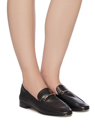 Figure View - Click To Enlarge - PEDDER RED - 'Rex' Round Toe Leather Horsebit Loafers