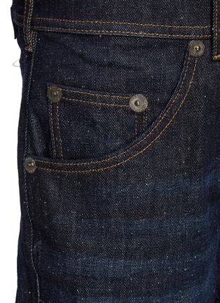 - NEIL BARRETT - Japanese Speckled Denim Washed Skinny Jeans