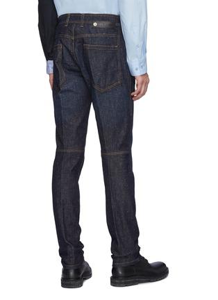 Back View - Click To Enlarge - NEIL BARRETT - Japanese Speckled Denim Washed Skinny Jeans
