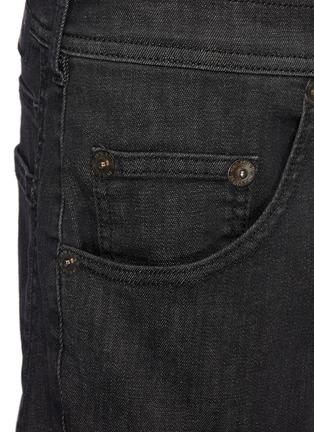 - NEIL BARRETT - Washed Charcoal Stretch Denim Jeans