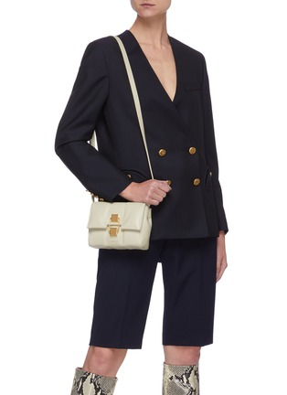 Figure View - Click To Enlarge - DEMELLIER - 'Mini Alexandria' padded soft leather crossbody bag