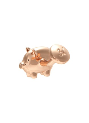 Detail View - Click To Enlarge - BABETTE WASSERMAN - Balloon pig rose gold cufflinks