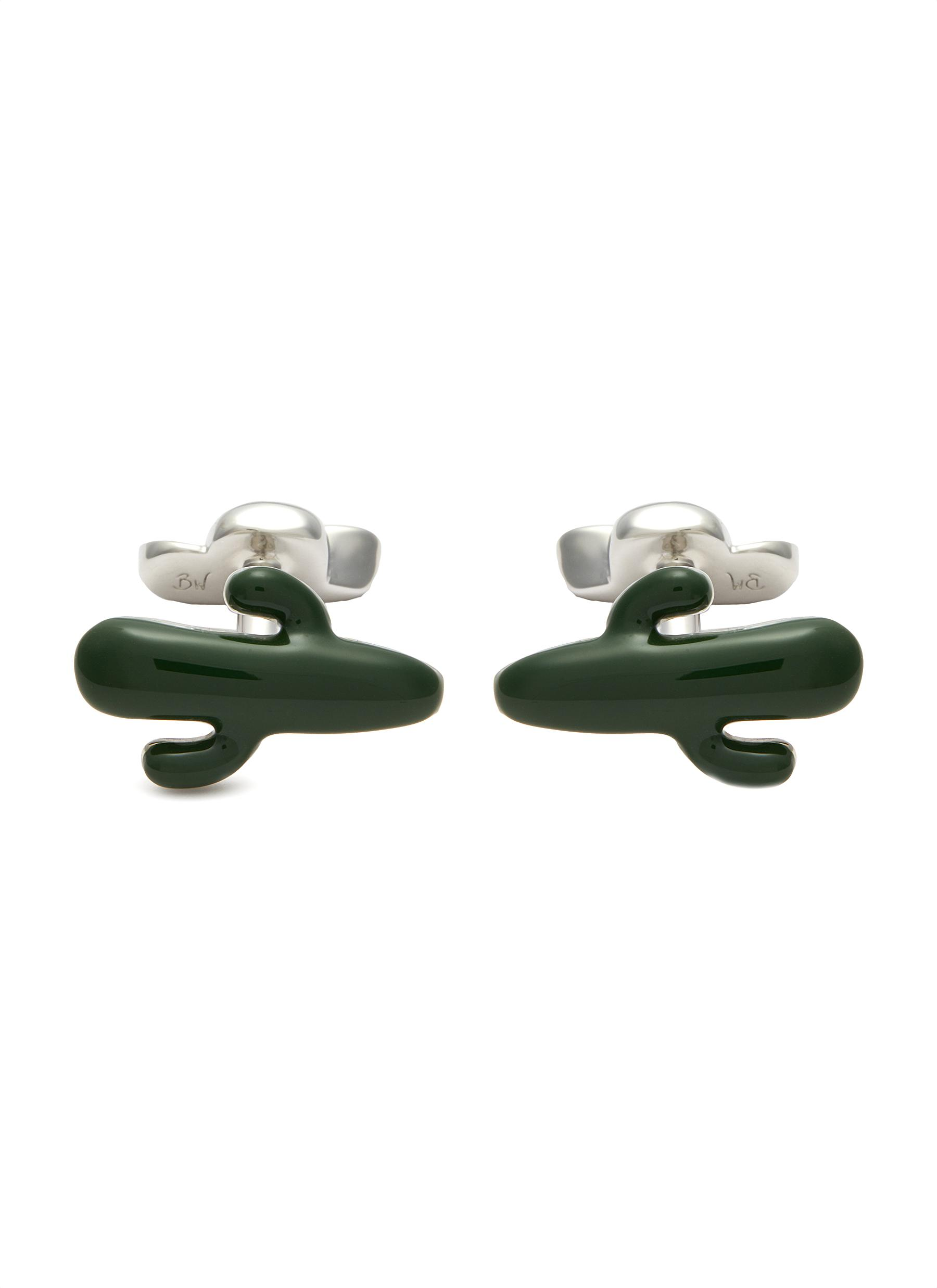 Cactus and cowboy hat cufflinks
