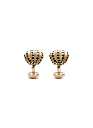 Main View - Click To Enlarge - BABETTE WASSERMAN - Dotted Pumpkin Gold Cufflinks