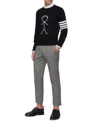 Figure View - Click To Enlarge - THOM BROWNE - Mr. Thom Intarsia Merino Wool Sweater