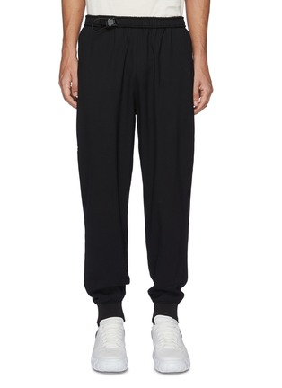 Main View - Click To Enlarge - WOOYOUNGMI - Adjustable Elastic Waist Sweatpants With Leg Pockets