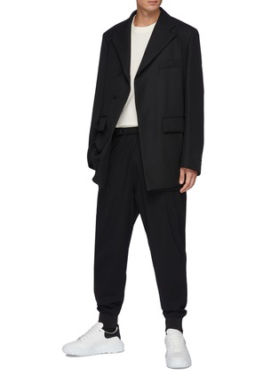 Figure View - Click To Enlarge - WOOYOUNGMI - Adjustable Elastic Waist Sweatpants With Leg Pockets