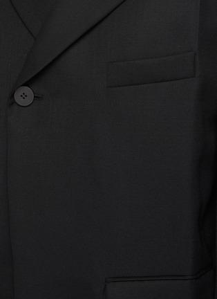 - WOOYOUNGMI - One Button Front Asymmetric Blazer