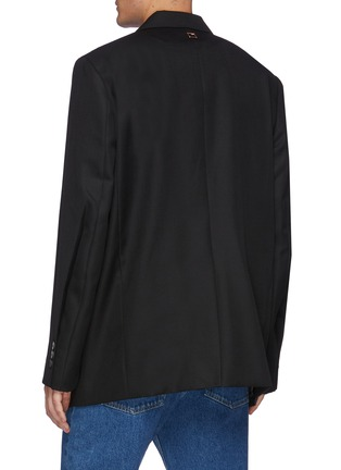 Back View - Click To Enlarge - WOOYOUNGMI - One Button Front Asymmetric Blazer
