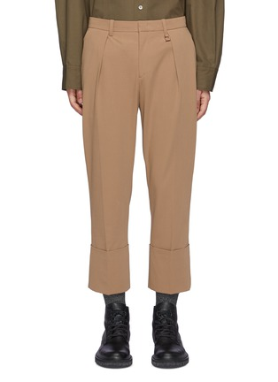 Main View - Click To Enlarge - WOOYOUNGMI - Roll-up Hem Crop Pants