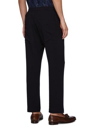 Back View - Click To Enlarge - BARENA - 'BATIVOGA MARENGO' Elastic Waist Wide Leg Pants