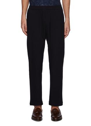 Main View - Click To Enlarge - BARENA - 'BATIVOGA MARENGO' Elastic Waist Wide Leg Pants