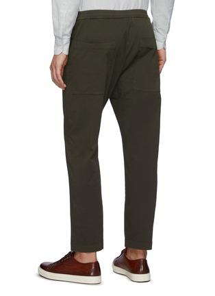 Back View - Click To Enlarge - BARENA - 'Bativoga Stino' Elastic Waist Wide Leg Pants