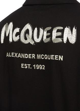 - ALEXANDER MCQUEEN - Contrast Graffiti Logo Embroidered Denim Jacket
