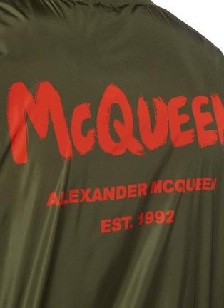 - ALEXANDER MCQUEEN - Graffiti Logo Print Nylon Bomber Jacket