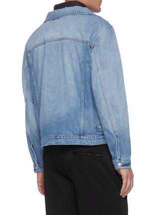 Back View - Click To Enlarge - ALEXANDER MCQUEEN - Double Collar Layered Denim Jacket