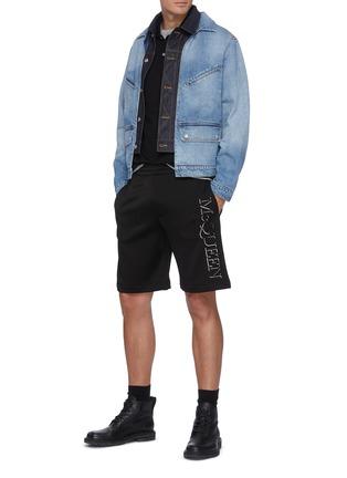 Figure View - Click To Enlarge - ALEXANDER MCQUEEN - Double Collar Layered Denim Jacket