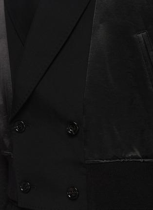 - ALEXANDER MCQUEEN - Notch Lapel Front Wool Bomber Jacket