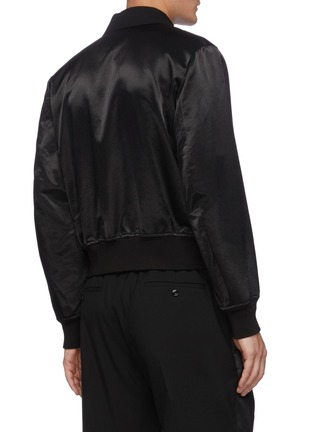 Back View - Click To Enlarge - ALEXANDER MCQUEEN - Notch Lapel Front Wool Bomber Jacket