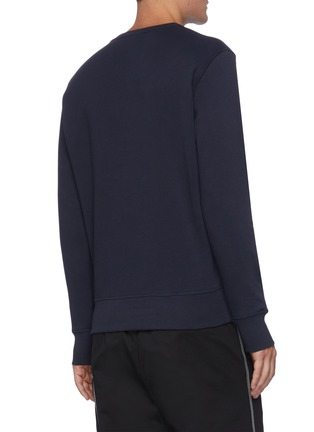 Back View - Click To Enlarge - ALEXANDER MCQUEEN - Skull Logo Embroidered Cotton Sweatshirt