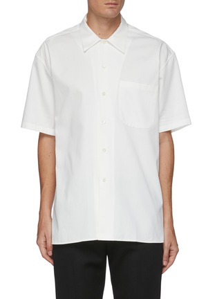Main View - Click To Enlarge - ALEXANDER MCQUEEN - Graphic skull print short sleeve shirt