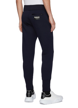 Back View - Click To Enlarge - ALEXANDER MCQUEEN - Logo Patch Double Jersey Jogger Pants