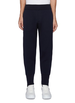 Main View - Click To Enlarge - ALEXANDER MCQUEEN - Logo Patch Double Jersey Jogger Pants