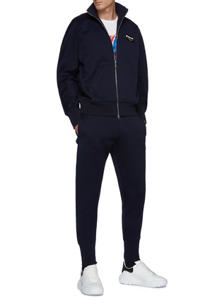 Figure View - Click To Enlarge - ALEXANDER MCQUEEN - Logo Patch Double Jersey Jogger Pants