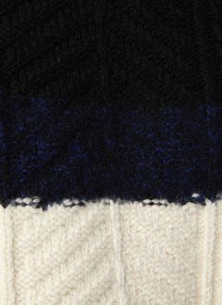 - ALEXANDER MCQUEEN - Colourblock Cable Knit Wool Blend Sweater