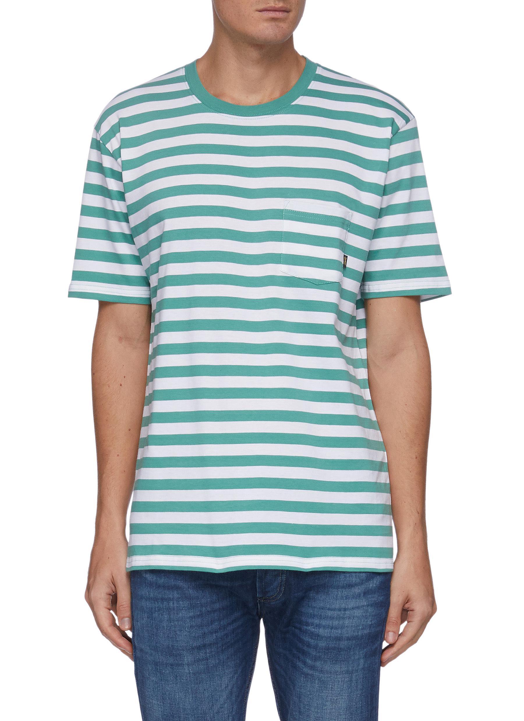 Troy Breton' Patch Pocket Striped Jersey T-shirt