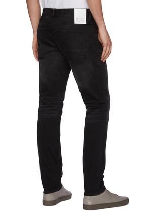 Back View - Click To Enlarge - DENHAM - 'Noos Razor' Slim Fit Whiskered Denim Jeans
